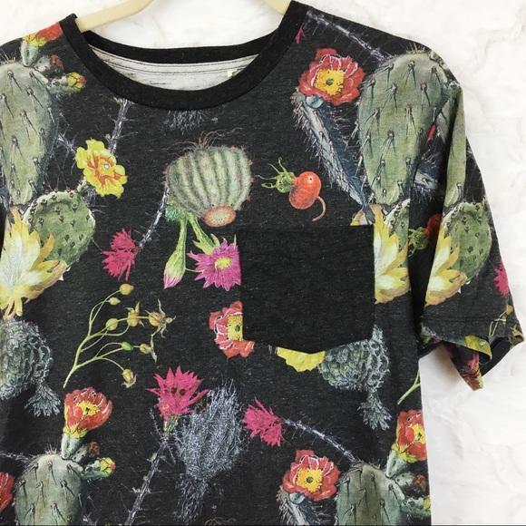 86c3c46c Modern Amusement Tops | 5 For 25 All Over Cactus Print Pocket Tshirt ...